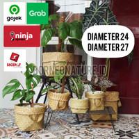 Bakul Purun Cover Pot Anyaman Diameter 24 & 27