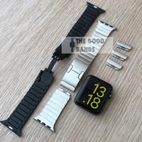 Strap Apple Watch Seri SE 6 5 4 Stainless Link Bracelet Tali 42mm 44mm
