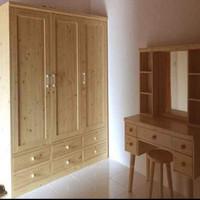 lemari pakaian/baju 3 pintu /lemari pakaian murah kayu jati belanda