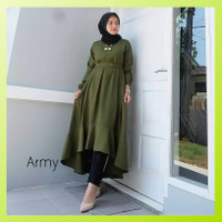 Baju Atasan Tunik Wanita Muslim Polos Blouse Terbaru Blus Modern Murah