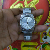 jam tangan Rolex Oyster dial silver 36mm
