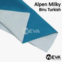 Bahan Kain Alpen Milky Biru Turkish - Kain Parasut Anti Air Murah