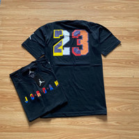 BAJU KAOS PRIA AIR JORDAN NBA BASKET COTTON COMBED 30S HITAM 440