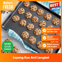 Loyang Kue Kering Nastar Roti Microwave Oven Import Anti Lengket
