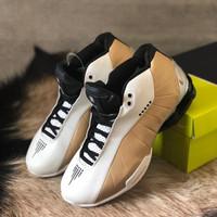 Sepatu Cowok - NIKE SHOX BB4 - White Gold - 40