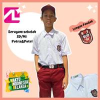 Seragam Sekolah Baju SD/MI Kemeja Putih Lengan Pendek Kelas 1-6