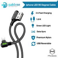 Mcdodo LED 90 Degree Lightning iPhone Kabel Data Charger 1.8Meter