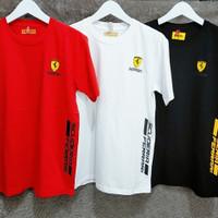 Kaos Pria Ferrari Baju Oblong Fashion Sports Kwalitas Import DR01.