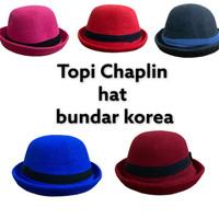 Topi Chaplin Hat Bundar Korea - Topi Chaplin Anak dan Dewasa Murah