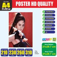 Cetak Poster A4+ Art Carton 210-260 Gram
