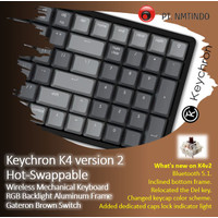 Keychron K4 v2 Hot Swappable Brown Switch RGB Backlight Aluminum Frame