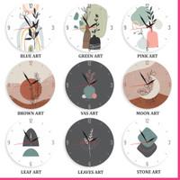 Jam Dinding Unik Aesthetic Art Minimalis Seni Estetik Shabby Chic Lucu