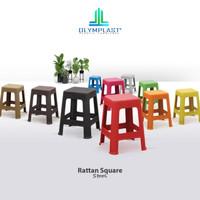 Olymplast Kursi Plastik Bangku Bakso Baso Anyam Rotan Rattan Square