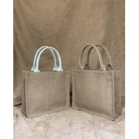 Souvenir Hampers Karung Goni - Tote Bag Kombinasi Handle Kanvas
