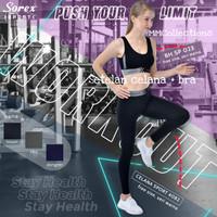 Setelan Baju Olahraga Senam Gym Yoga Sorex Sport Celana 4082 & Bh 023