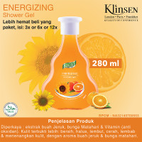 KLINSEN SHOWER GEL - ENERGIZING 280ml - Sabun Mandi Cair