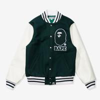 BAPE x Undefeated Varsity Jacket Green