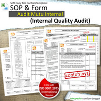[Softcopy] Contoh SOP Audit Mutu Internal, sesuai ISO 9001:2015