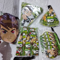 Birthday Package Ben10 (banner pjg, topi, terompet pjg& gulung, topeng