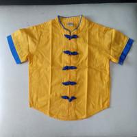 Baju Cheongsam anak laki / Kemeja lengan pendek little M/Baju imlek