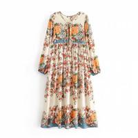 Long Dress vintage bohemian gamis baju muslim Gardenia Maxi Import 5