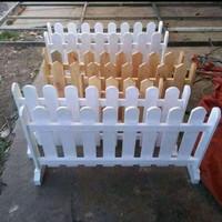 pagar pembatas ruangan/pagar kayu jati belanda murah warna natural