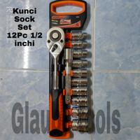 Kunci sock set 12pc/ socket set 12pc/ kunci sok