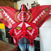 Layangan kupu kupu bahan kain..parasut