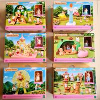 Sylvanian Families Baby Choo choo Train Castle Playground kereta