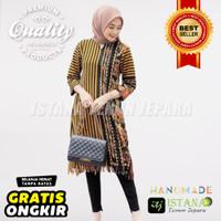 Baju Hijab Modern tunic terbaru batik tenun lurik Troso cantik