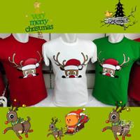Baju KAOS NATAL SANTA CLAUS REINDEER NGUMPET - Kaos Natal Keluarga