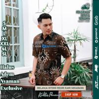 Baju batik pria kemeja batik pria cowok lengan pendek pekalongan G61 - S