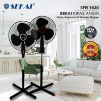 SEKAI SFN-1620 Stand Fan 16 Inch Kipas Angin Berdiri Tumpu Bergaransi