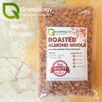 Kacang Almond Oven / Roasted Whole Almond (1 kilogram) by Granology