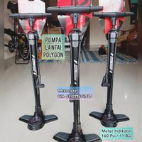 Pompa Ban Sepeda Polygon 160 PSI Meter Indikator