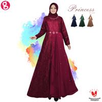 Dress Muslim Princess Brukat - Bridesmaid Dress Baju Kondangan