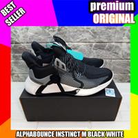 sepatu adidas alphabounce instinct m black white 2020_premium original