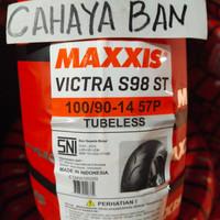 BAN LUAR MOTOR MATIC U 100/90-14 MAXXIS VICTRA TUBLES