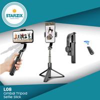 Gimbal Stabilizer Tripod Tongsis Selfie Smartphone Smart Remote L08
