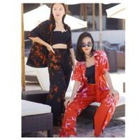 Setelan Tie Dye Milkyway Longsleeve Set Bali Kemeja Piyama