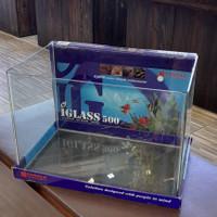 Kandila iglass 500 Bending Clear Glass Aquarium 50x33x35