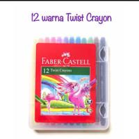 SET 24 WARNA KRAYON PUTAR FABER CASTELL TWIST CRAYON