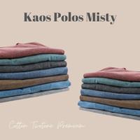 Kaos Polos Misty 100% Cotton Twotone Premium 30s Pria Wanita
