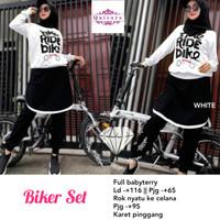 Biker set baju olah raga wanita muslim cantik modis nyaman dipake