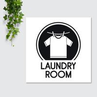 Hiasan Dinding Pajangan Dekorasi Interior Ruangan Room Laundry