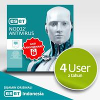 Antivirus ESET NOD32 Antivirus - 4 Komputer 2 Tahun