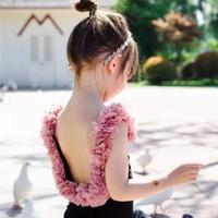 Baju Renang Anak Perempuan Balita Suit Hitam Bunga Impor