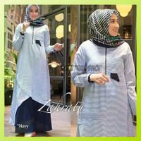 Baju Gamis Syari Zahratu Dress Pesta Muslim Wanita Jumbo Terbaru Murah