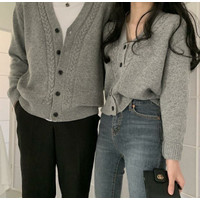 Couple Paris Rajut Grey [Baju Couple 0133] TKU