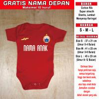 Jumper custom bayi Persija GRATIS NAMA DEPAN romper kaos baju newborn